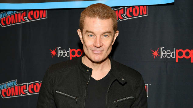 James Martsers poses for a photo during New York Comic Con 2019