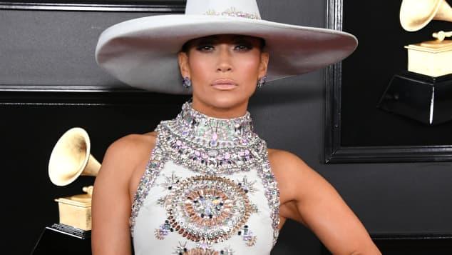 Jennifer Lopez en los premios Grammy 2019