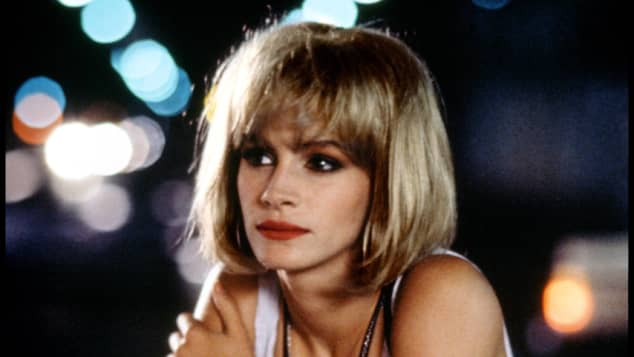 "Julia Roberts as ""Vivian Ward"" in the 1990 hit movie Pretty Woman."