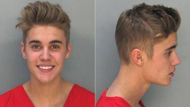 Justin Bieber's Mug Shots