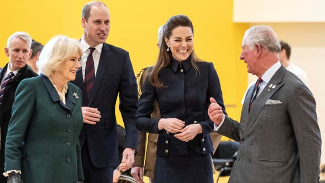 Prince William, Camilla Parker-Bowles, Prince William, and Duchess Kate