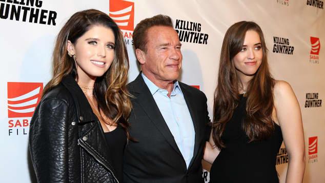 Katherine Schwarzenegger, Arnold Schwarzenegger and Christina Schwarzenegger