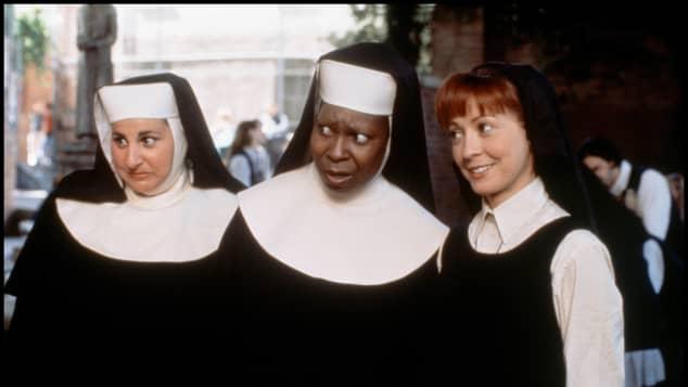 Kathy Najimy, Whoopi Goldberg and Wendy Makkena in Sister Act