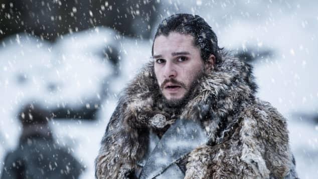 "Kit Harington as ""Jon Snow"" in season 7 of HBO's Game of Thrones."