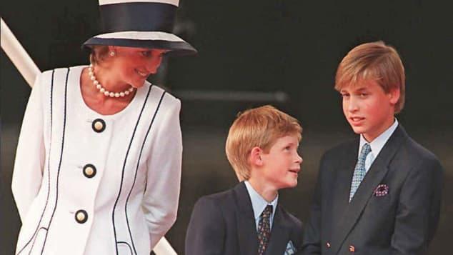 La princesa Diana, Harry y William
