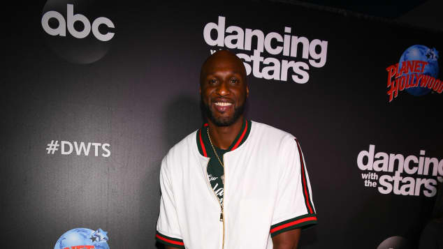 Lamar Odom arrives at the 2019 Dancing With The Stars Cast Reveal at Planet Hollywood Times Square on August 21, 2019 in New York City