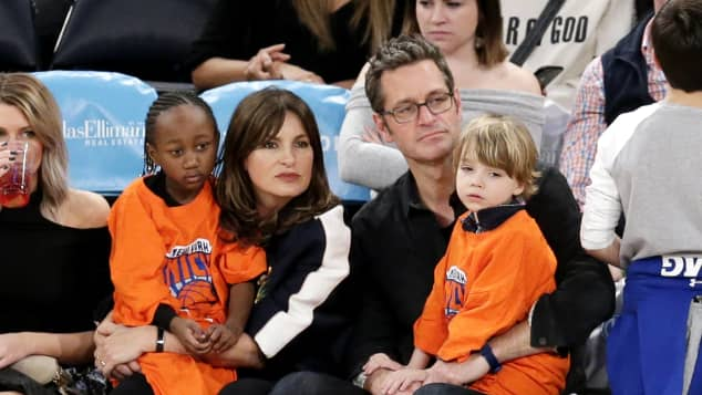 Mariska Hargitay y su familia en 2018
