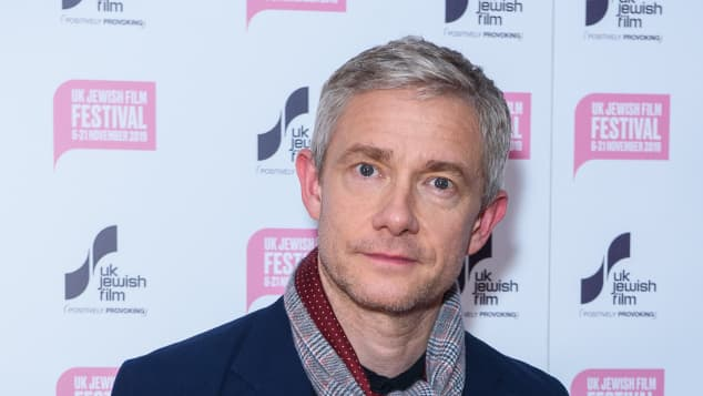 """Martin Freeman attends """"The Operative"""" UK premiere at Picturehouse Central on November 14, 2019"""