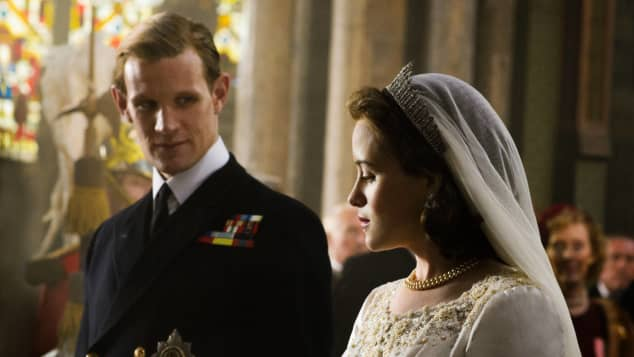 Claire Foy y Matt Smith en 'The Crown'