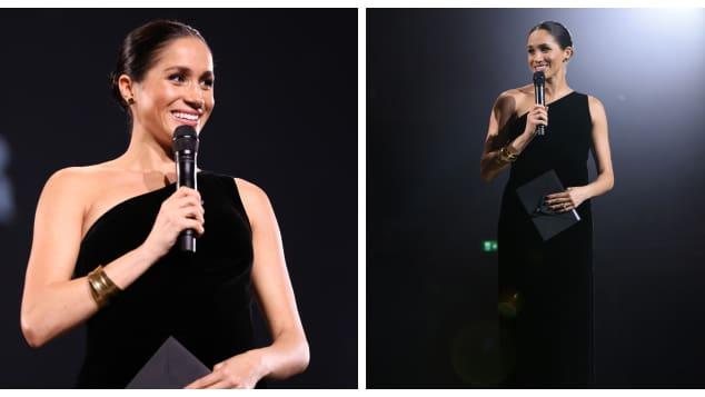 Meghan dazzles at British Fashion Awards