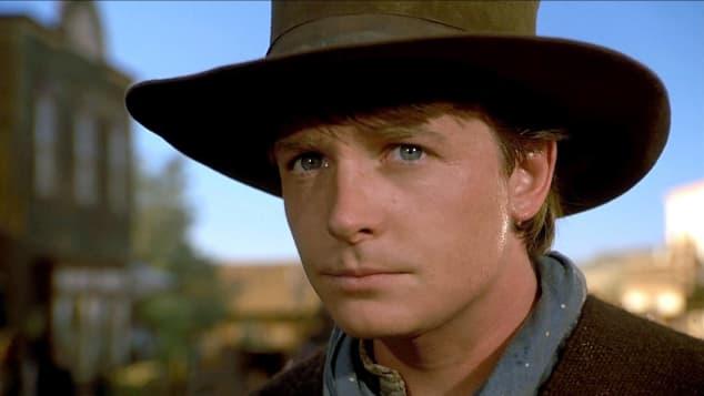 Michael J. Fox en una escena de la película 'Volver al futuro 3'