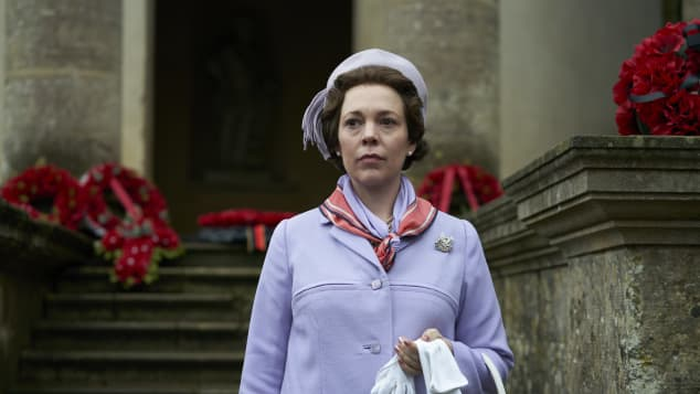 The Crown star Olivia Colman really struggled to hide her emotions while filming season 3.