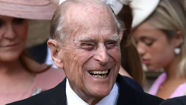 Prince Philip at Lady Gabriella's wedding in May 2019.