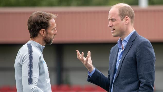 Prince William and Gareth Southgate