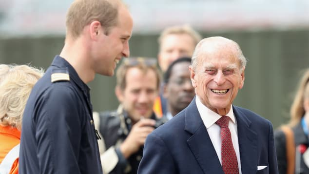 Prince William and Prince Philip