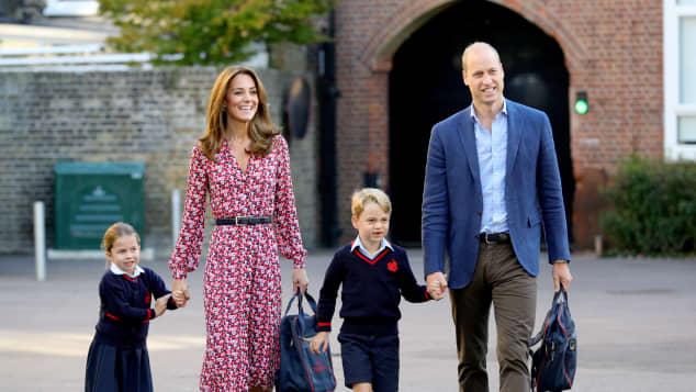 Princess Charlotte, Duchess Kate, Prince George and Prince William