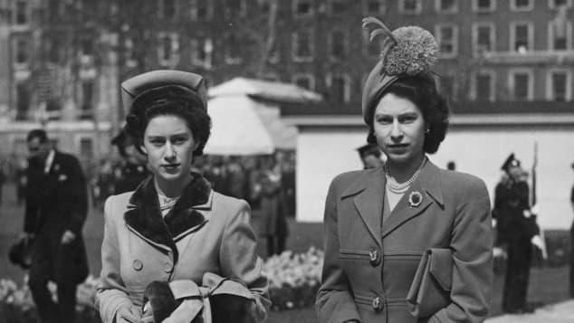 La Reina Isabel II y la Princesa Margaret