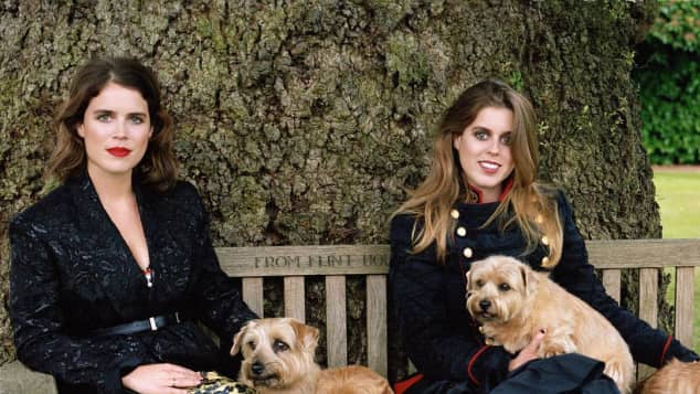Princess Beatrice and Princess Eugenie appeared on the cover of Vogue magazine
