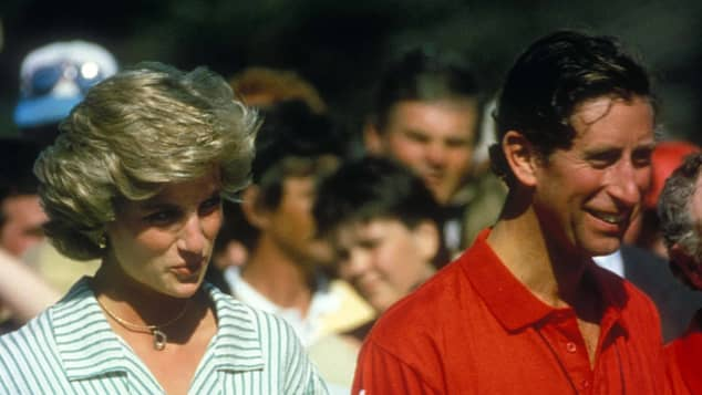La princesa Diana y el príncipe Carlos