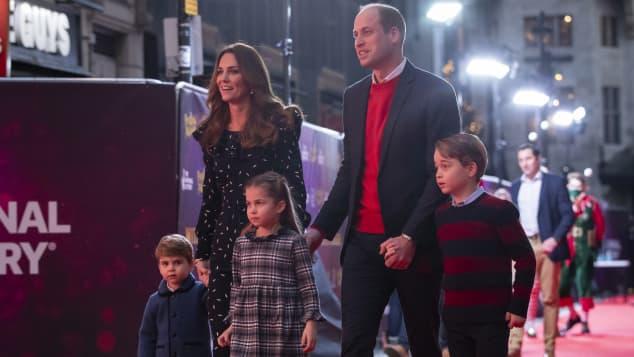 Kate Middleton y los príncipes William, George, Charlotte y Louis