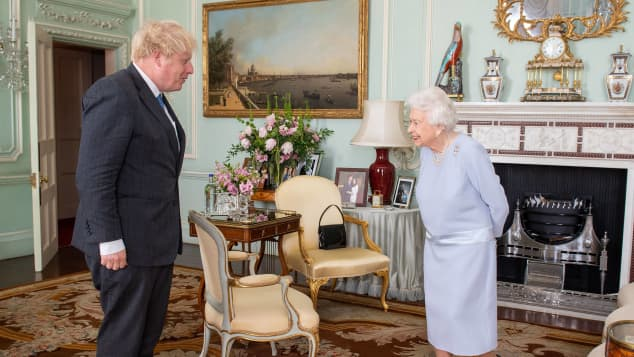 Prime Minister Boris Johnson and Queen Elizabeth II