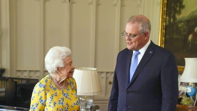 Queen Elizabeth II and Prime Minister Scott Morrison