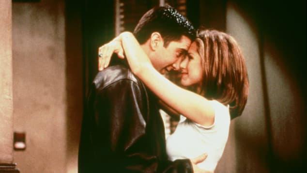 David Schwimmer y Jennifer Aniston en una escena de 'Friends'