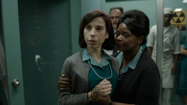 Sally Hawkins and Octavia Spencer in the film 'The Shape of Water'
