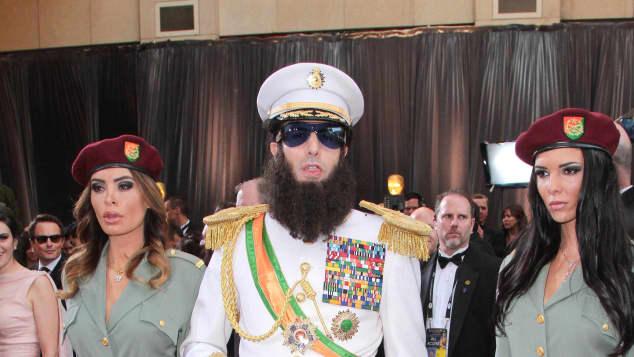 """Sacha Baron Cohen as """"Aladeen"""" at the Oscars"""
