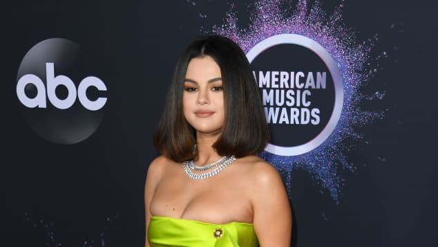 Selena Gomez arrives for the 2019 American Music Awards at the Microsoft theatre on November 24, 2019 in Los Angeles