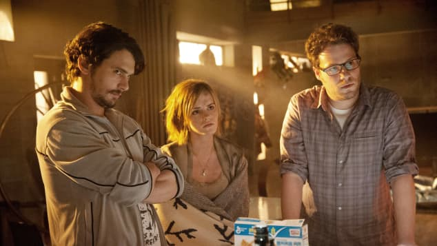 James Franco, Emma Watson, and Seth Rogen in 'This Is The End'