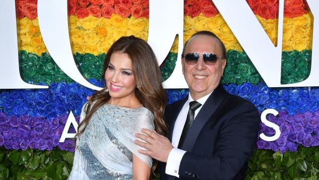 Thalía y Tommy Mottola en Nueva York