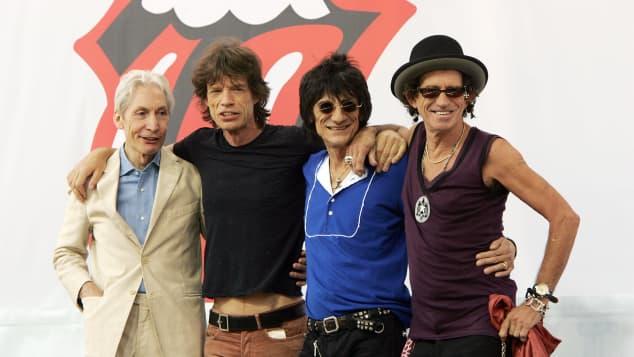 Mick Jagger y The Rolling Stones en 2005