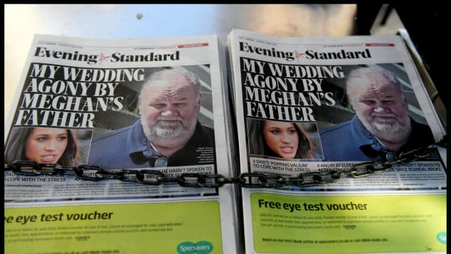 Meghan Markle and Thomas Markle On 'Evening Standard'