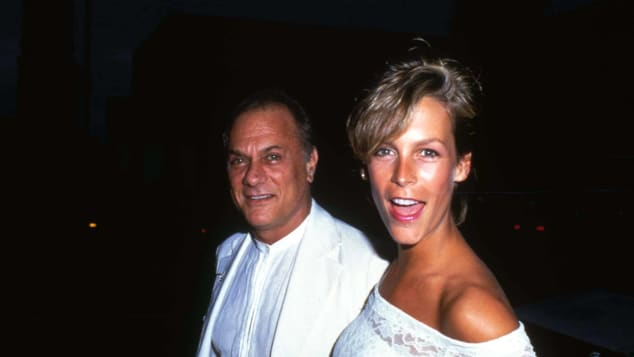 Tony Curtis and Jamie Lee Curtis, pictured in 1984.