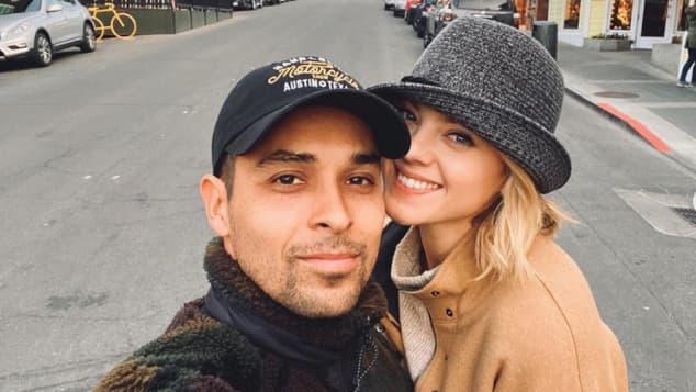 Wilmer Valderrama and Amanda Pacheco