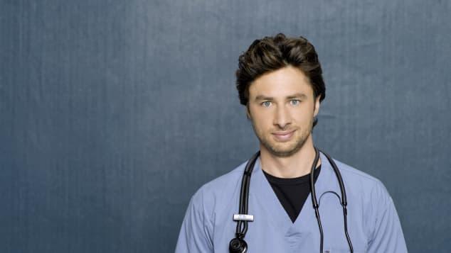 """Zach Braff played """"Dr. John J.D. Dorian"""" on the TV show, """"Scrubs"""""""