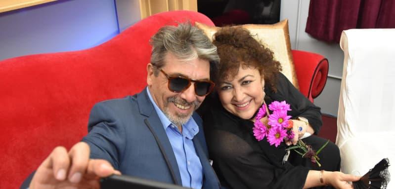 Diego Verdaguer y Amanda Miguel