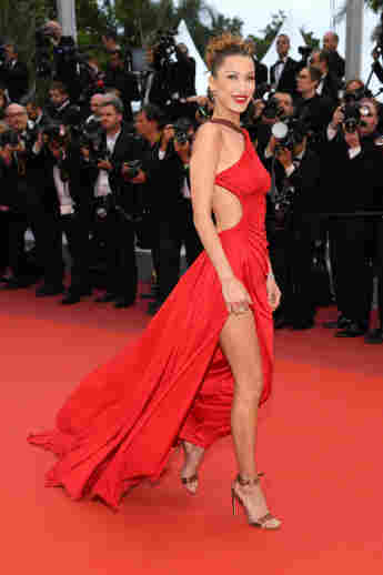 """Bella Hadid attends the screening of """"Pain And Glory"""" during the 72nd annual Cannes Film Festival."""