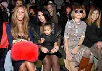 Beyoncé Knowles, Kim Kardashian, North West and Anna Wintour at New York Fashion Week
