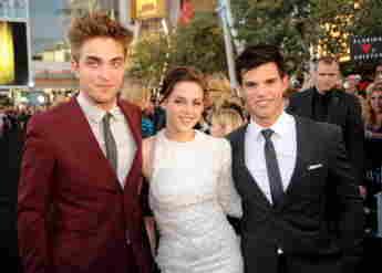 Robert Pattinson, Kristen Stewart y Taylor Lautner