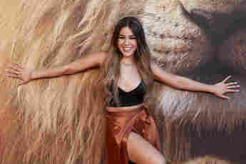 Danna Paola attends 'El Rey Leon' premiere at the Goya Theater on July 16, 2019 in Madrid, Spain