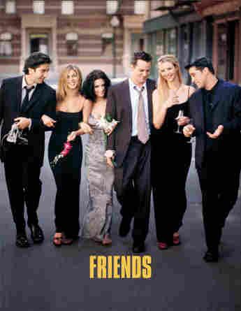 David Schwimmer, Jennifer Aniston, Courteney Cox, Matthew Perry, Lisa Kudrow y Matt LeBlanc en un still promocional de 'Friends'.