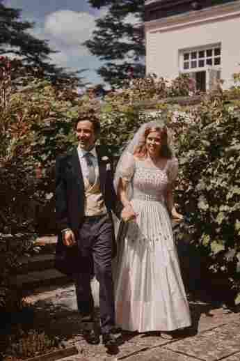Princess Beatrice and Edoardo Mapelli Mozzi on their wedding day, July 17, 2020.