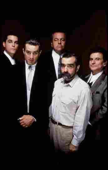 "Ray Liotta, Robert De Niro, Joey Pesci, Paul Sorvino and Martin Scorsese from ""Goodfellas"""