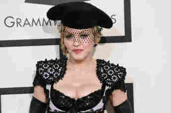 Madonna attends The 57th Annual GRAMMY.