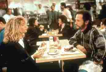 "Meg Ryan and Billy Crystal in ""When Harry Met Sally"""