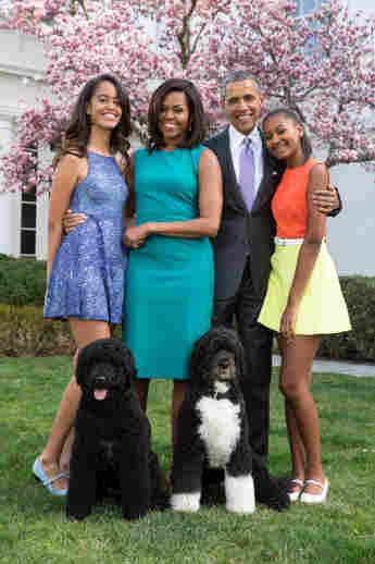 Barack, Michelle, Malia y Sacha Obama