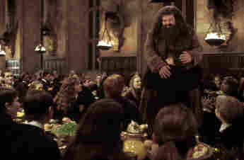 """Robbie Coltrane as """"Hagrid"""" in """"Harry Potter"""""""