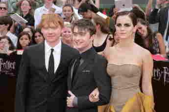 Rupert Grint, Daniel Radcliffe y Emma Watson